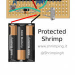 Shrimp on Stripboard with Battery